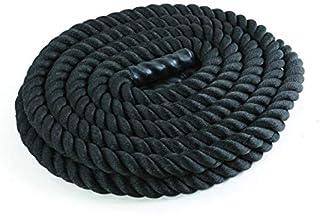 Cuerda de Batalla 15m, 20kg Battle Rope para Entrenamiento Funcional | Cuerda de Batida 50mm Diámetro Negro