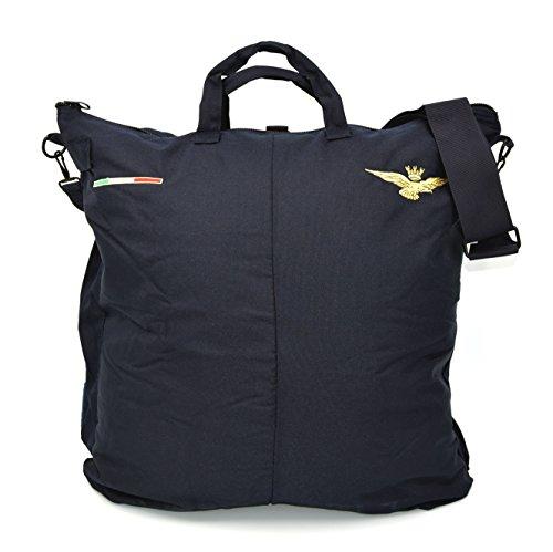 The Aerodyne Borsa portacasco da Volo Blu Ricamata con Aquila Aeronautica Militare