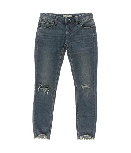 Free People Destroyed Long and Lean Jegging Skinny Denim Pants (Tupeloblue, 29)