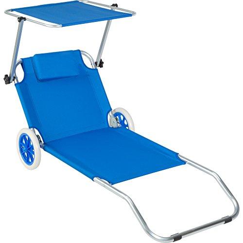TecTake 800536 Chaise Longue de Plage Bain de...