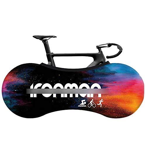 CHANGAN Fahrradabdeckung, kratzfestes, elastisches Fahrradreifen Paket für Mountainbike Rennrad, hält Böden und Wände schmutzfrei, staubgeschützte Aufbewahrungstasche für Fahrräder, abwaschbares B