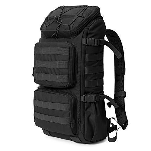 Mardingtop 28L Tactical Backpacks Molle Hiking daypacks for Motorcycle Camping Hiking Military Traveling (6347-Black)