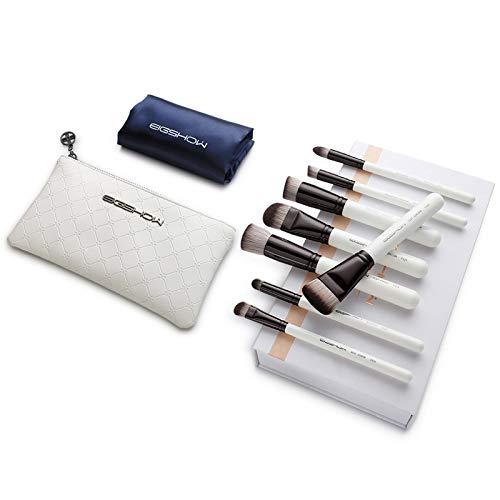 Pinceau de maquillage LHY- 8 pièces Set, Pinceau Fond de Teint, Soft, maquilleuse Professionnelle, Outils de Maquillage avancées, Un Ensemble Complet Mode (Color : Bright Gun Color)