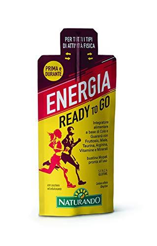 Naturando Energia Ready-to-Go 30 Bustine Monodose. Energia Pronta per Tutti i Tipi di Attività Fisica
