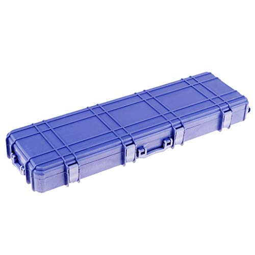 FLAMEER Blue Plastic Suitcase Luggage Carrier Box for Axial SCX10 D90 TF2 RC Truck