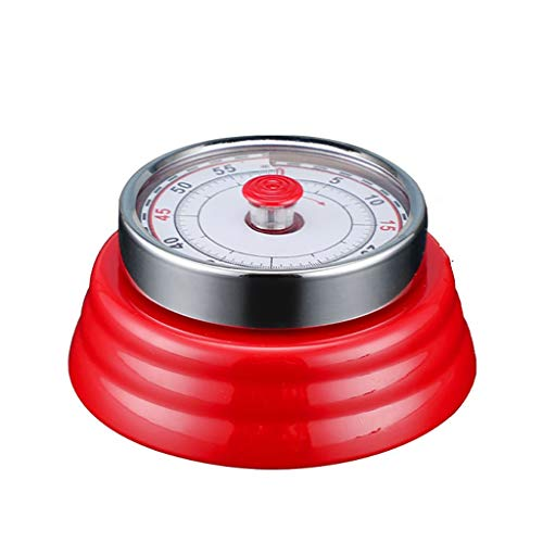 Visual Kitchen Timer - Round Mechanical Countdown Magnet Alarm Adsorption Function for Classroom Cooking Mother's Day Best Gift