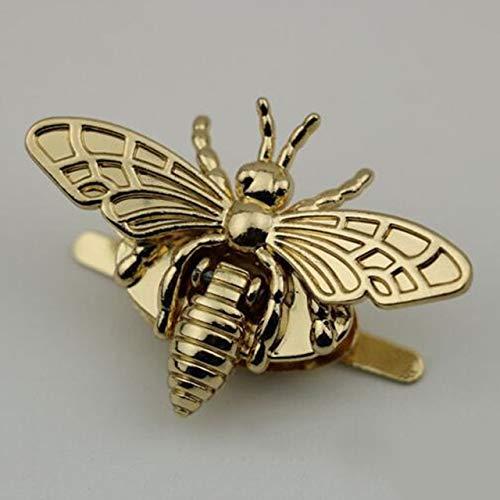Luz de la luna de la estrella Botones de metal abeja en forma de corchete de activar el bloqueo de hardware for el bricolaje del monedero del bolso retro abeja torniquete broche de botón de bolsa for