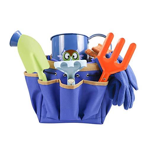 yummyfood Gartentasche Für Kinder Gartenwerkzeugtasche Kinder Spielwerkzeuge Spielhaus Spielzeug Mit Schaufel, Rechen, Gabel, Spray, Handschuhen, Tasche, 6St