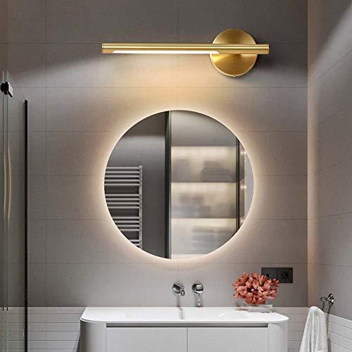 Decoratie alle koperen geleide Amerikaanse toilet badkamerspiegel schijnwerper lamp eenvoudige kast badkamerrek lamp make-up spiegel Nordic hoogte 12 cm diameter 50 cm *