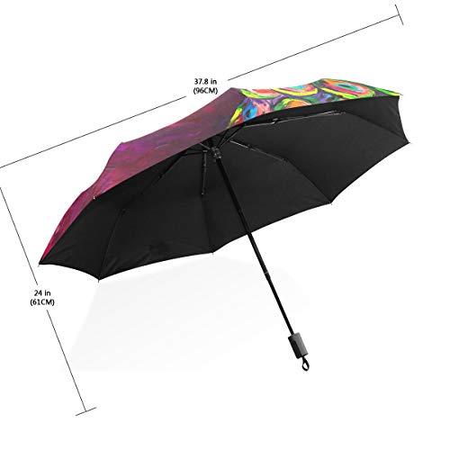 Regenschirm Elegant und schön Peacock 3 Folds Lightweight Anti-UV