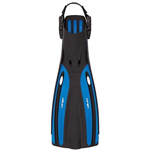 OCEANIC Viper Tauchen Open Heel verstellbar Wasser Tauchen besten kaufen Tauchen Flossen Schnorcheln Sport, schwarz / blau, X-Small