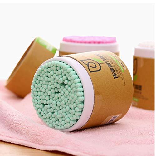 Jefes 200PCS / Pack de algodón palillo de madera esponjas de doble punta con la mejor calidad de algodón multipropósito seguras Los hisopos de algodón altamente absorbente palillos estériles de