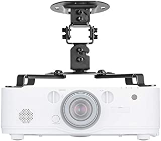 Universal Projector Mount Bracket Low Profile Multiple Adjustment Ceiling , Hold up to 30 lbs. (PM-002-BLK), Black