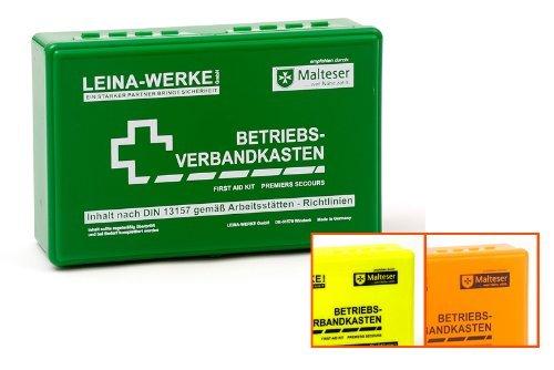 Leina-Werke Betriebsverbandkasten DIN 13157-C mit Wandhalterung Grün