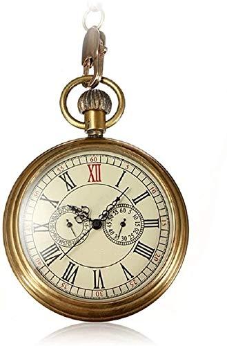 懐中時計 クラシック懐中時計 アンティークメカニカル懐中時計パンクメカニカルスケルトン懐中時計としてのバレンタインデー父の日ギフトユニセックスシンプルなレトロな機械式腕時計 男女兼用 (色 : Silver, Size : 4.7x1.5cm) (色 : Gold, サイズ : 4.7x1.5cm)