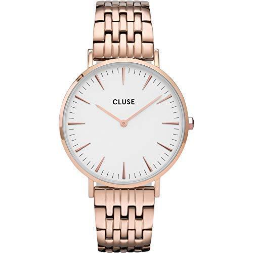 CLUSE Reloj Analógico para Mujer de Cuarzo con Correa en Acero Inoxidable CW0101201024