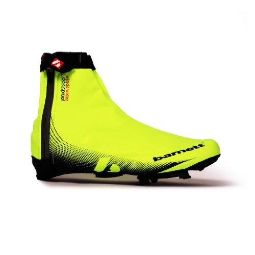 barnett BARNETT BSP-05 Neongelbe Fahrrad- Überschuhe, wasserabstoßend (M)
