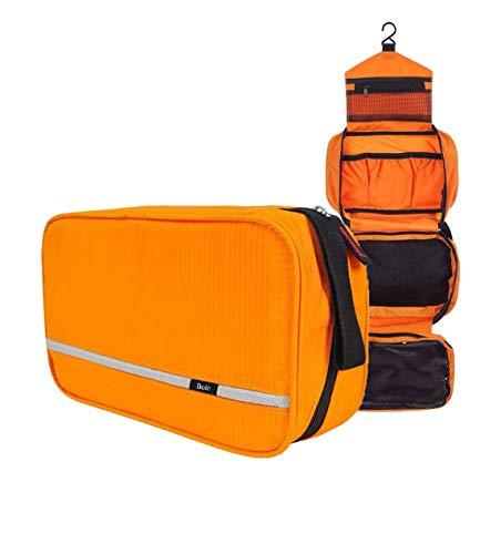 Neceser Viaje Hombre y Mujer, Boic Pequeño Bolsas de Aseo Impermeable, Neceser Maquillaje Pack Neceser Baño Toiletry Kit, Cosmético Organizadores de Viaje Travel Toiletry Bag (Naranja)