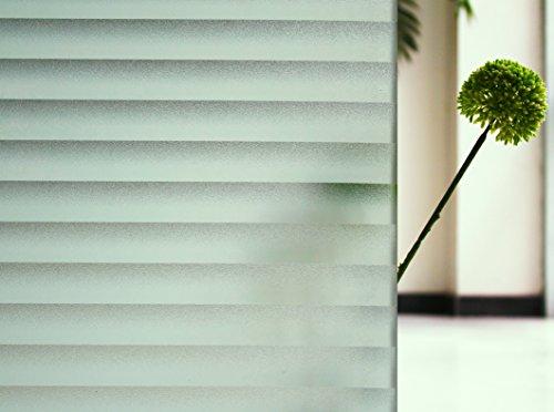 Tamia-Home Statische Fensterfolie Universal Sichtschutzfolie UV Schutz 99% Reduziert Wärmeschutz Selbstklebend Jalousie P040 (90x150cm)