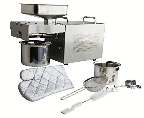 Hanchen Home Machine à presser automatique à huile pour noix et graines 220 V