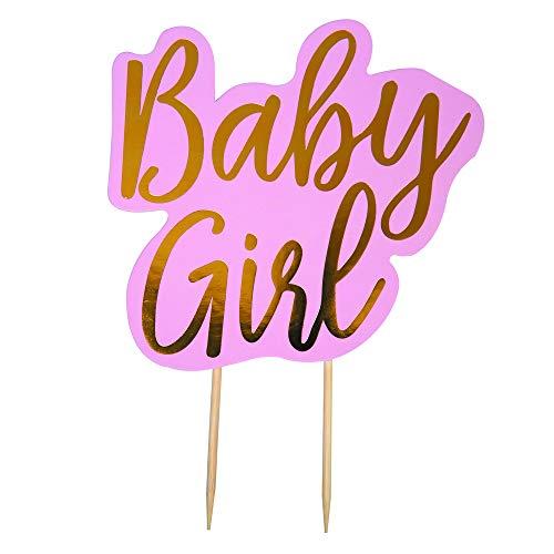 Neviti Pattern Works Tortendeko Cake Topper Baby Girl, Pink