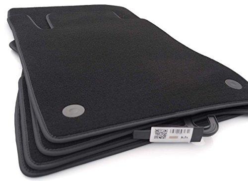 Fußmatten C219 (Premium Velour) Automatten Original Qualität Nubuk-Rand, 4-teilig Schwarz