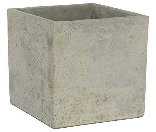 Classic Home and Garden 3/0935/1 ConSq Natural Cement Square Planter 8 inch, 8'