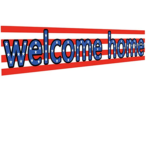 Ushinemi Welcome Home Banner Decorations Military for Yard Sign, 9.8X1.6 Feet
