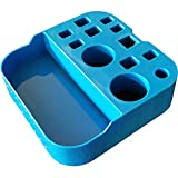 Pearlead Portable Detachable Pet Grooming Tools Holder Dog Grooming Shears Organizer Grooming Tools Tray Dog Grooming Scissors Holder for for Dog Grooming Table and Arm Decoration (Blue)