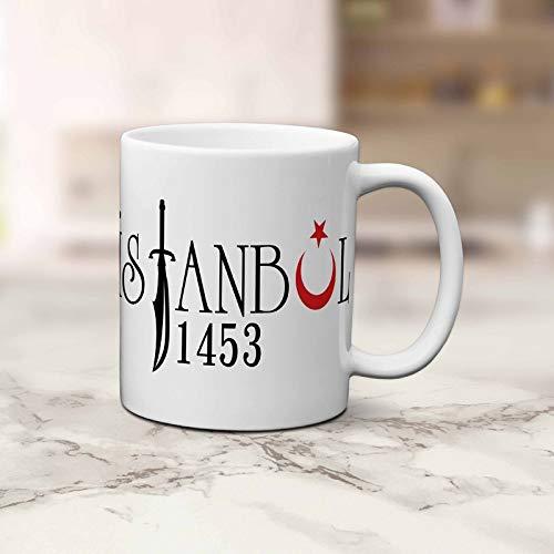 ÜLKÜCÜ Market İstanbul 1453 Kaffeebecher Kaffeetasse Groß mit Druck Keramik Army