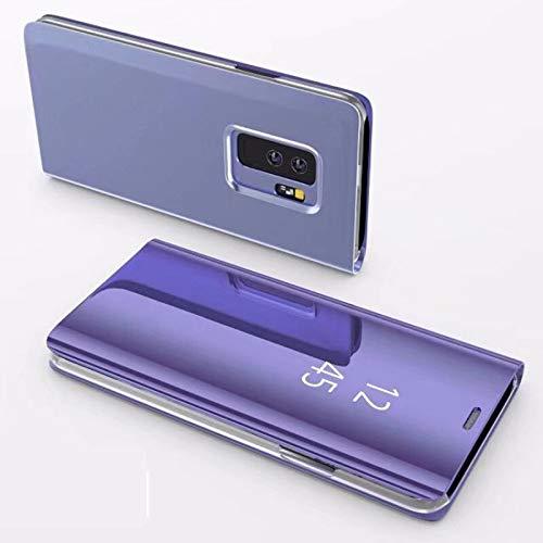 Samsung Galaxy S9 SC-02K/SCV38 ケース Galaxy S9 カバー Galaxy S9 革のカバー Galaxy S9 鏡面視窓 Galaxy S9 鏡面カバー 全面保護 強化ガラスフィルム 360度フルカバー 衝撃防止 アイ