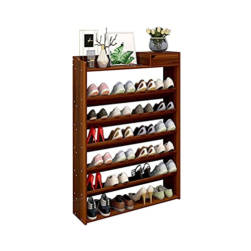 HYAN Zapatero Estante de Zapatos de 7 Niveles con cajón Libre de Madera, Estante de Zapatos Grande, Organizador de Almacenamiento de Zapatos para Pasillo de Entrada de Entrada Caja de Zapatos