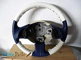Coprivolante kit 3 pz. Fiat nuova 500 vera pelle bianca+clip