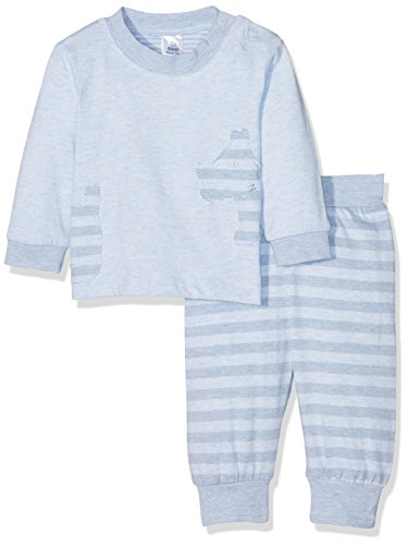 Kanz Baby-Jungen T-Shirt 1/1 Arm + Hose Bekleidungsset, Blau (Skyway Melange 8264), 56