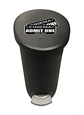 New 2.6 Gallon Gray/Black Plastic Step Trash Can Waste Basket featuring your choice of Themed logo!