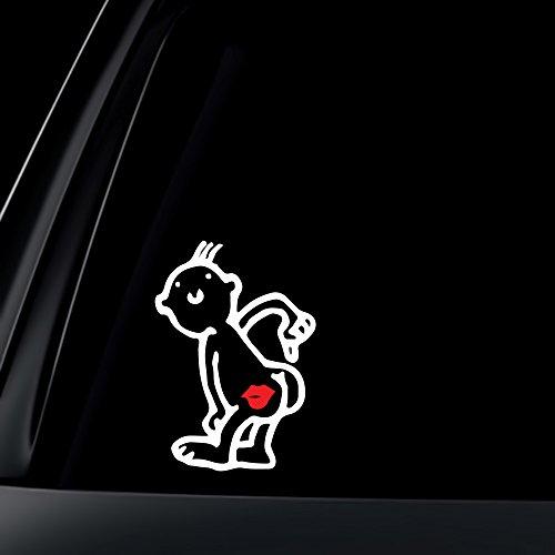 World Design Kiss My Ass Car Decal/Sticker - 6' White