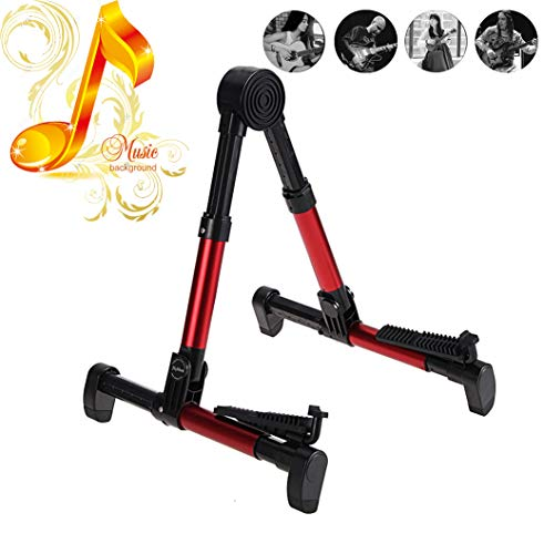 ZBSPM Guitar Stand, A-Frame Acoustic Guitar Stand Guitar Floor Holder for Electric Bass/Cello/Banjo/Mandolin/Ukulele Guitar Men Kids Unique Accessories Gifts/Guitar Learning System