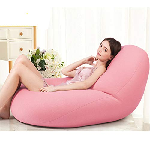 Zero Gravity Floating Bean Bag Lycra Cotton Bean Bag Chair Achieve Floating Therapy to Relieve Floating Therapy to Relieve Stress Anxiety for Adults Children Teens 125 * 60CM,Pink