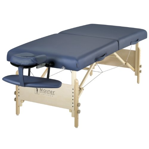 "Master Massage 30"" Coronado ThermaTop Portable Massage Table Heating Warmer Pad Built in, Royal Blue"