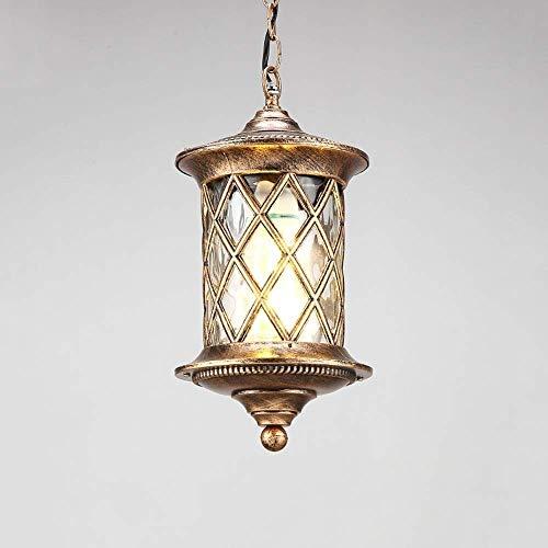 Xungzl antioxidante lámpara de Techo Cadena Colgante al Aire Libre IP55 Impermeable lámpara de araña de Cristal de Aluminio Creativa Puerta del Pasillo Pasillo araña de balcón Chalet Mirador a