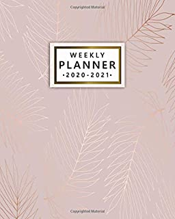 2020-2021 Weekly Planner: Rose Gold Palm Leaves Two Year Weekly Schedule Agenda & Planner - Pretty 2 Year Organizer with To-Do's, U.S. Holidays, Inspirational Quotes, Vision Board & Notes