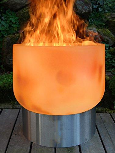 muenkel design Vesuv [Glas Feuerschale]: 51 cm