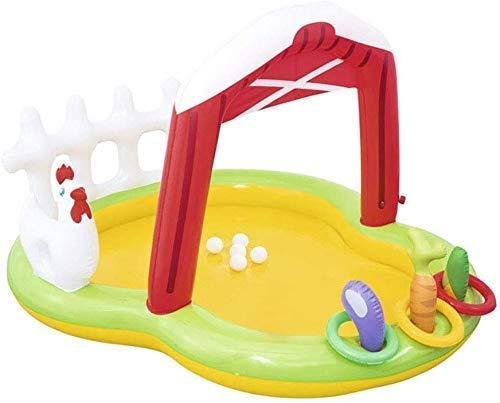 DFKDGL Klappbecken Schwimmbad, Kinderbecken, Schwimmponton 175 * 147 * 102CM Schwimmring-Planschbecken, ideal für alle Kinder und Erwachsene