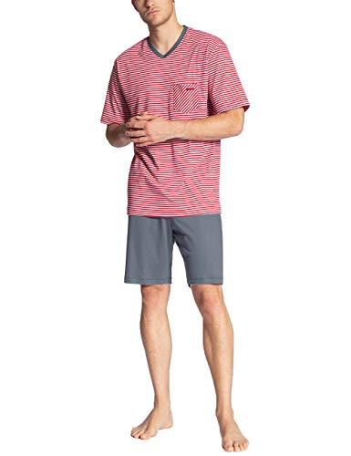 CALIDA Herren Relax Streamline 3 Zweiteiliger Schlafanzug, Rot (Tango red 156), Large (Herstellergröße:L)