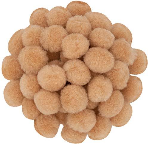 i-mondi® 50 pompons zum basteln beige in 20mm klein bastel zubehör pom pom bunt kugeln ponpons deko pompom plüsch