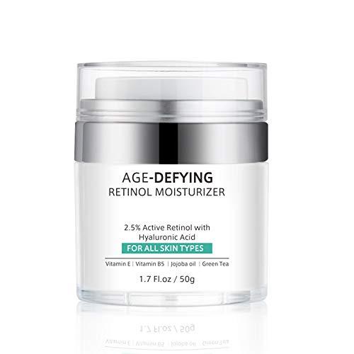41VwM1MongL - Retinol Cream for Face Anti-Aging, Face Moisturizer Cream with Retinol, Jojoba Oil, Hyaluronic Acid, Wrinkle Cream for Women Men, Neck & Décolleté Dark Spot Remover, Best Day and Night Cream, 1.7 Ounces