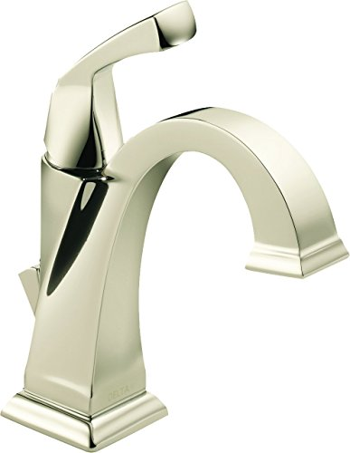 Delta Faucet Dryden Single-Handle Bathroom Faucet with Diamond Seal Technology and Metal Drain Assembly, Polished Nickel 551-PN-DST