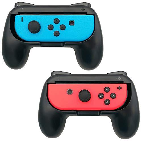 Flyeri Lot de 2 poignées pour manette Nintendo Switch Joy-Con, Nintendo Switch - Noir - Medium