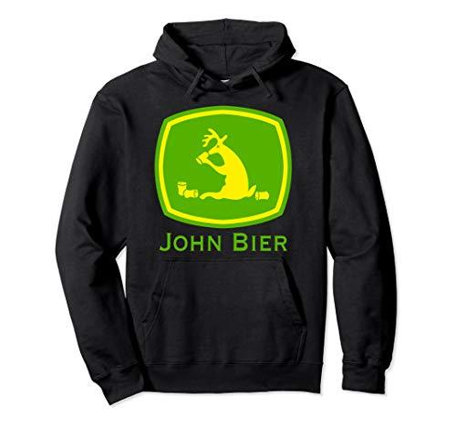 John Bier Traktor Bier Fun Shirt Rentier mit Alkohol Saufshi Pullover Hoodie