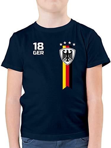 Fußball-Europameisterschaft 2020 Kinder - WM Fan-Shirt Deutschland - 164 (14/15 Jahre) - Dunkelblau - WM - F130K - Kinder Tshirts und T-Shirt für Jungen